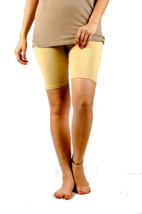 De Moza Ladies Knit Bottom Thights Viscose Lycra Solid Beige