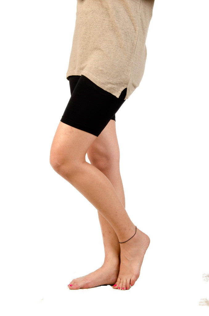 De Moza-Ladies Knit Bottom Thights Black - De Moza