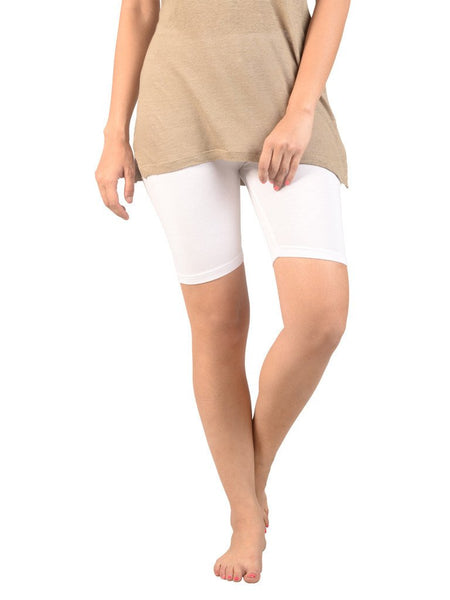 De Moza Ladies Knit Bottom Thights Viscose Lycra Solid White