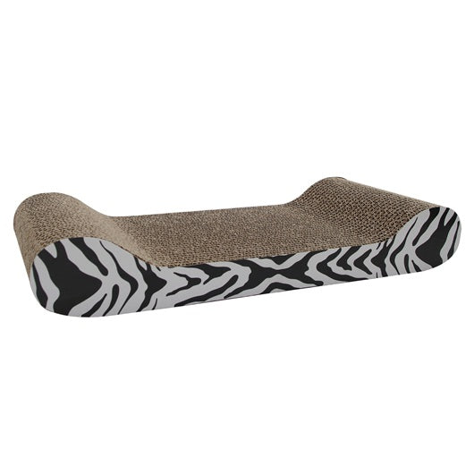 Catit Style Patterned Cat Scratcher with catnip - White Tiger, Lounge #52420