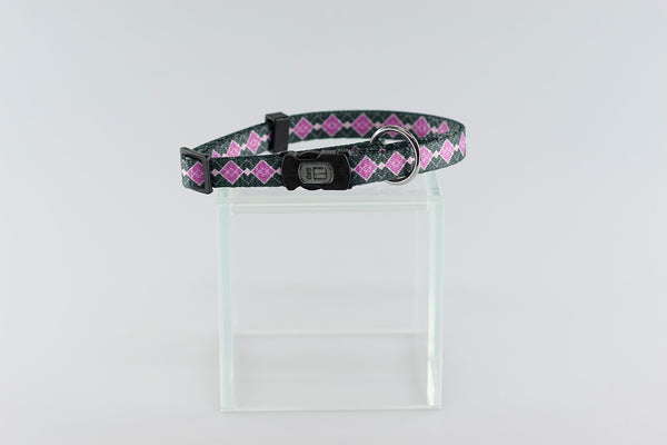 Dog It Style Argyle Nylon Collar