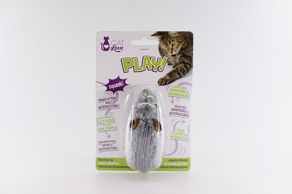 Cat Love Play - Vibrating Mouse / Caterpillar Toy - 11 cm