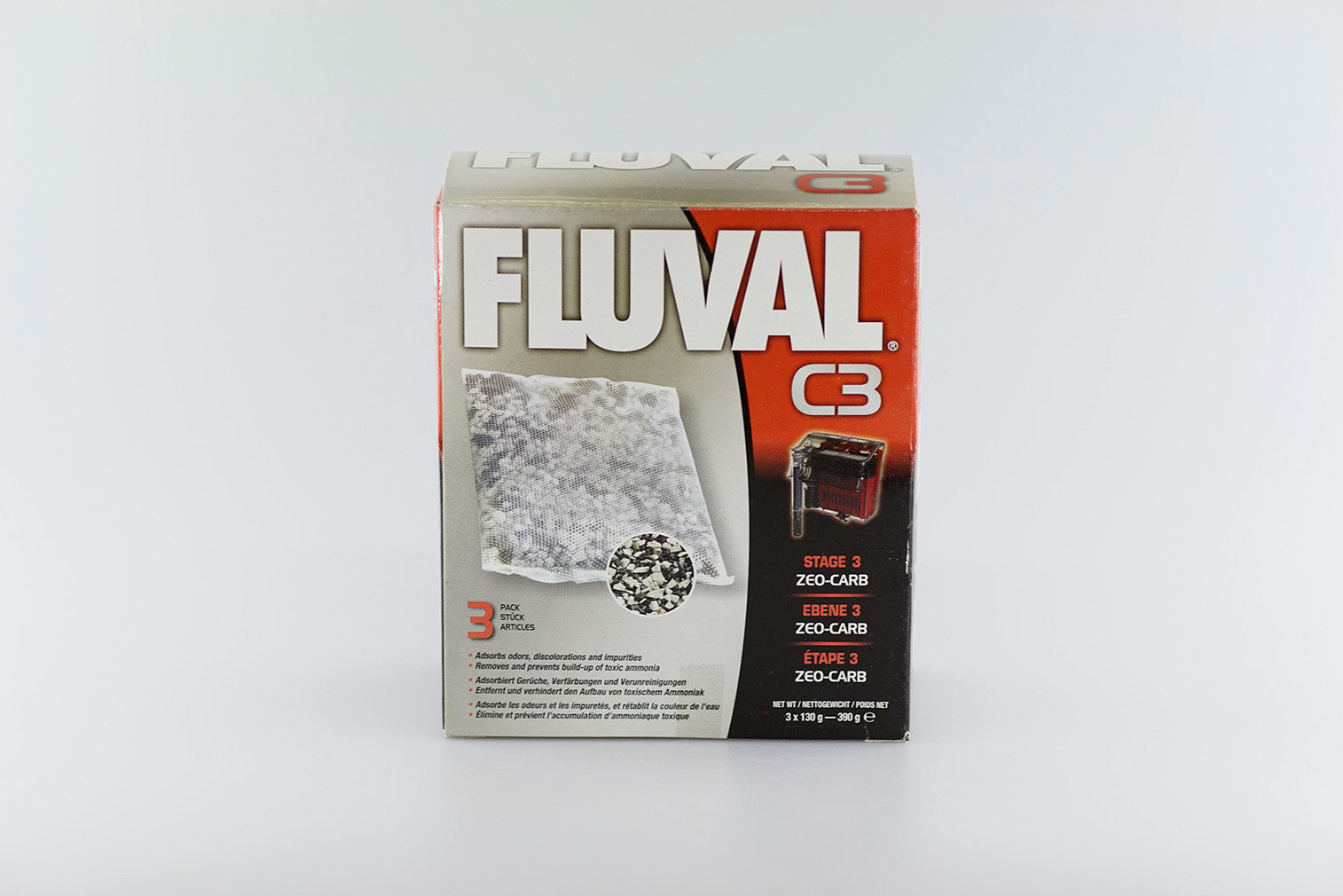 Fluval Zeo-carb for C series Hang On Filter 3 x 70g - 210g