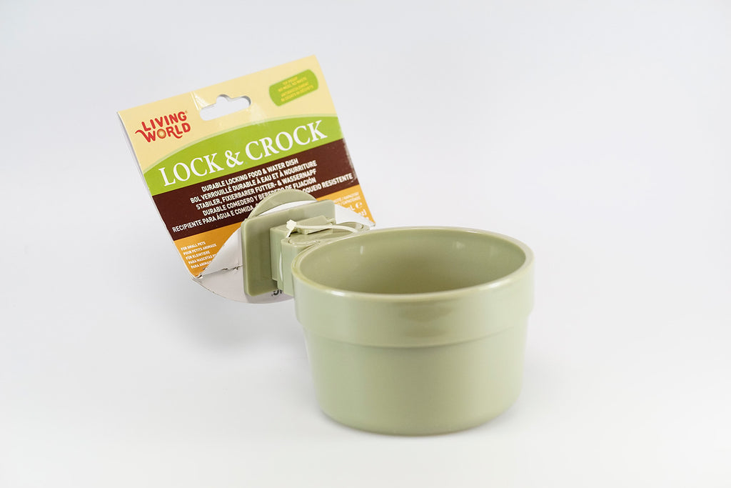 Living World Lock & Crock Durable Food & Water Dish
