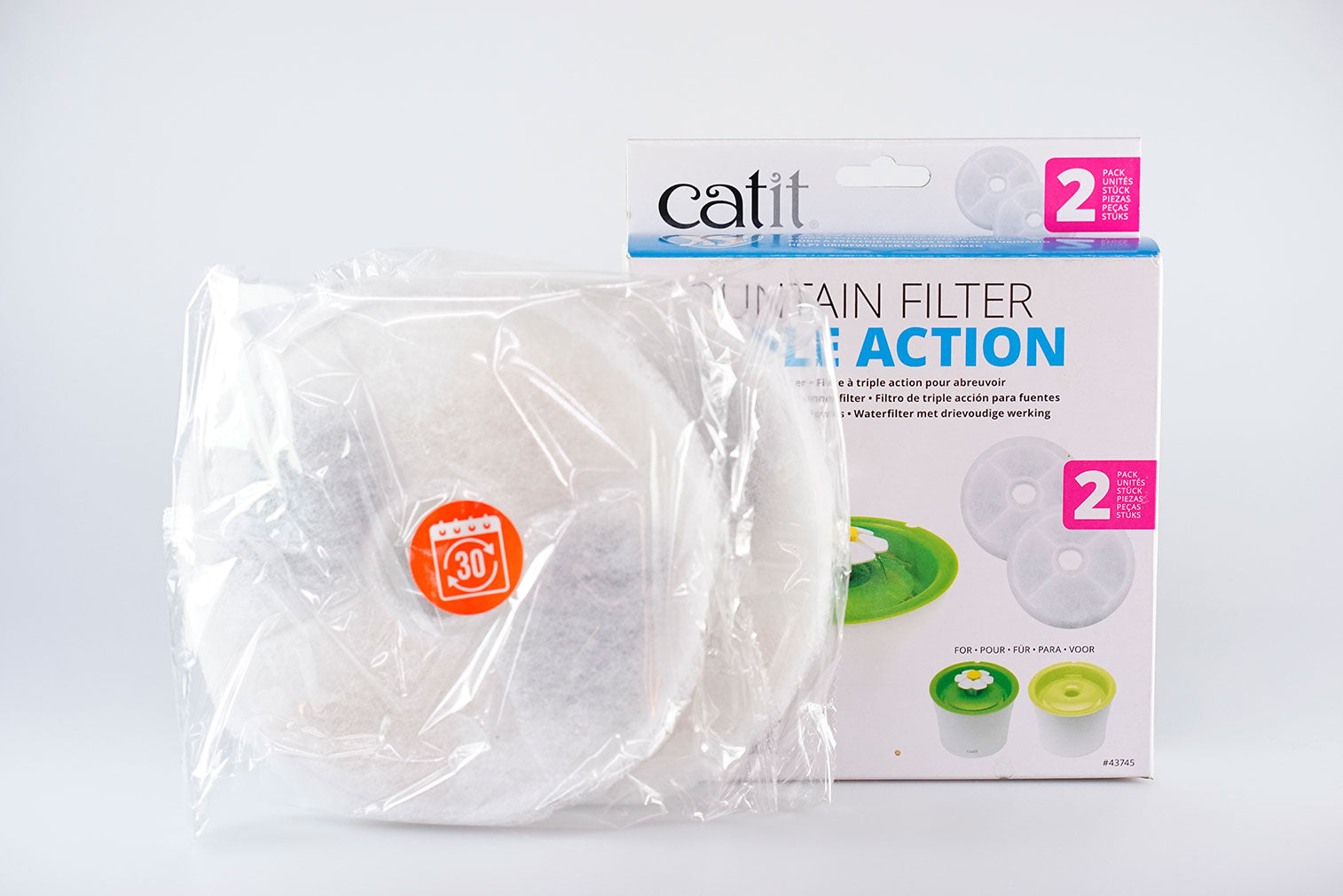 Catit Fountain Filter Triple Action - 2 pack #43745
