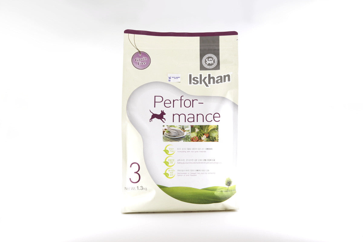 ISKHAN Performance - Dog Food for Adult Dog - 1.3kg