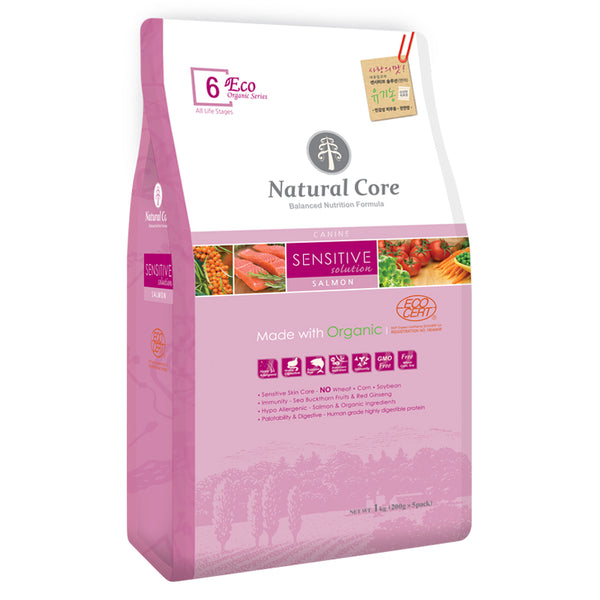 Natural Core ECO 6. Organic Sensitive Solution Salmon 1kg/6kg