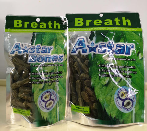 A-Bones Brush Dental Treat Small Pack/ Medium Pack