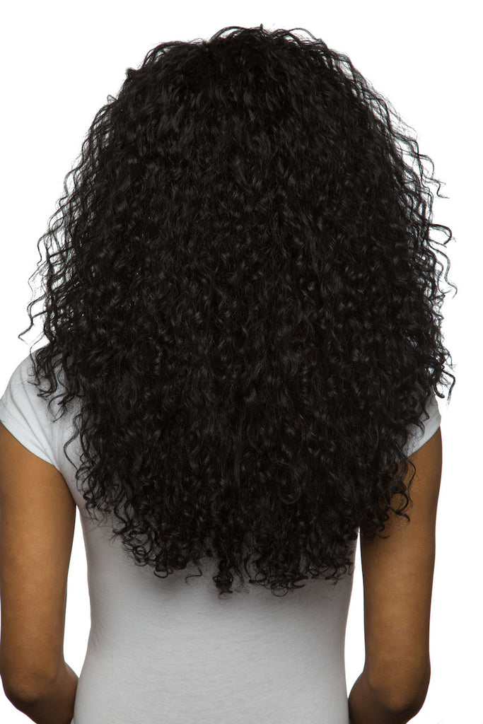 Afro Curly Hair Extension Toile Blue