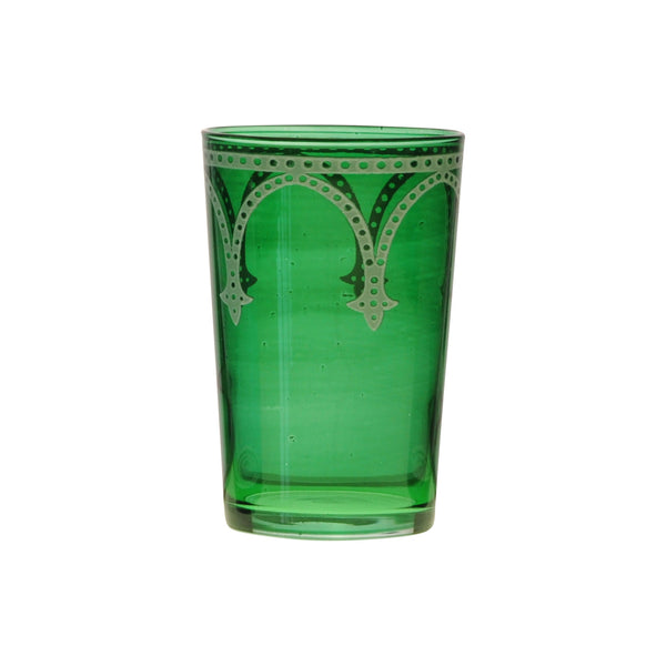 Tea glass Cindbad White, Green