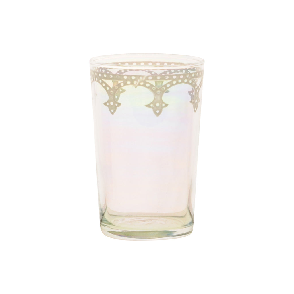 Tea glass Cindbad White, Iris