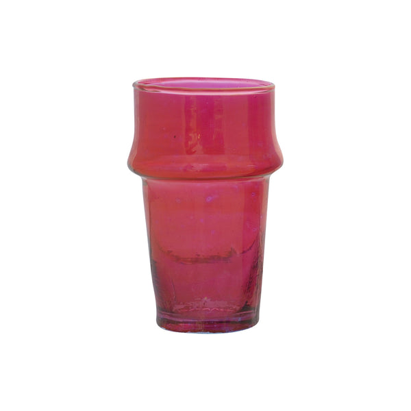 Tea Glass Beldi Color M, Bordeaux