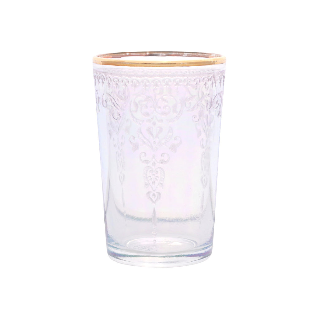 Tea glass Morjana Relief, Iris