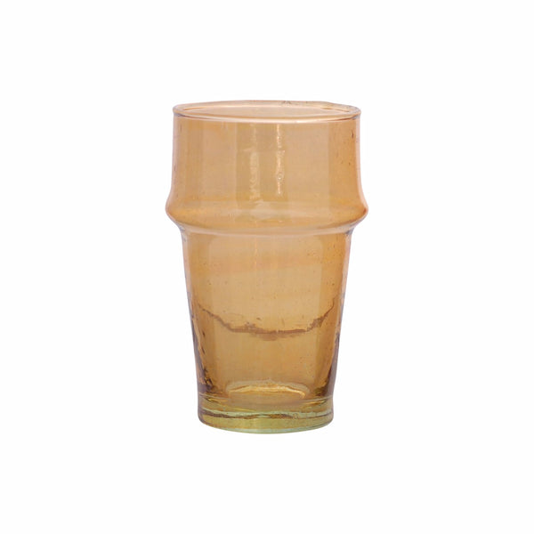 Tea Glass Beldi Color M, Amber