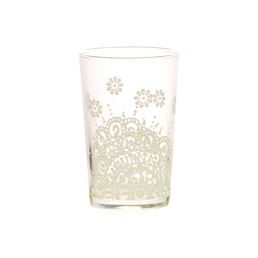 Tea Glass Oujam relief, White. D6xH9,5 cm