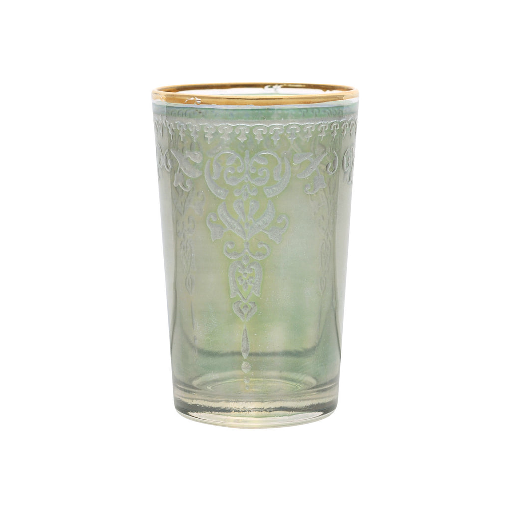 Tea glass Morjana Relief, Green
