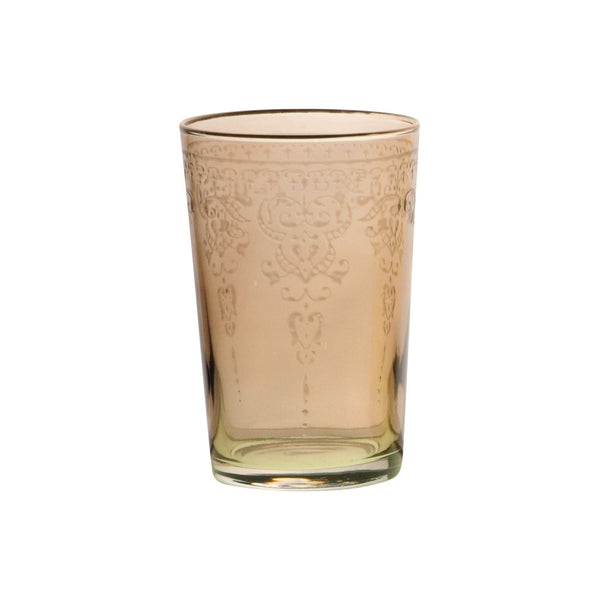 Tea glass Morjana Relief, Amber