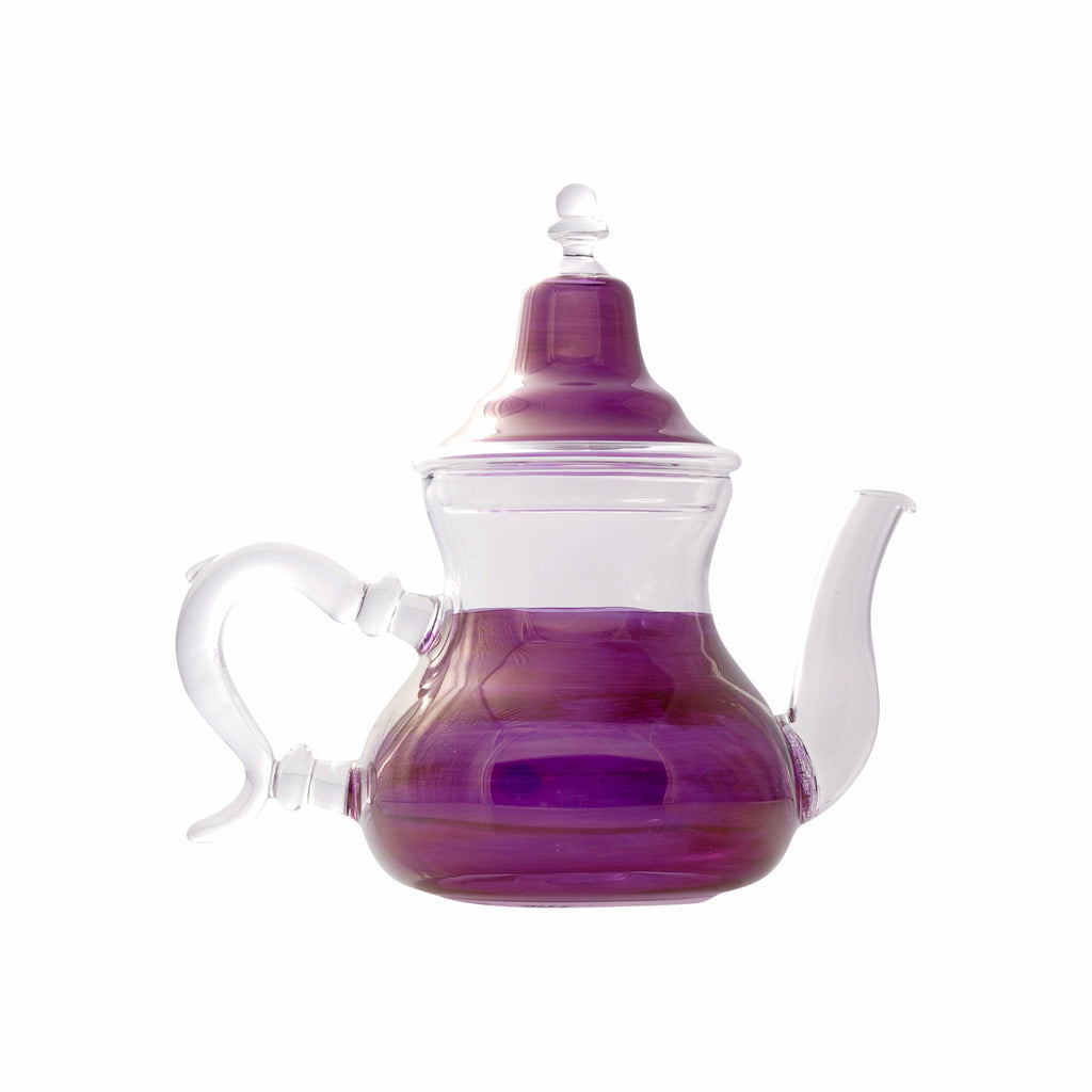 Glass Teapot Berrad Color, Violet