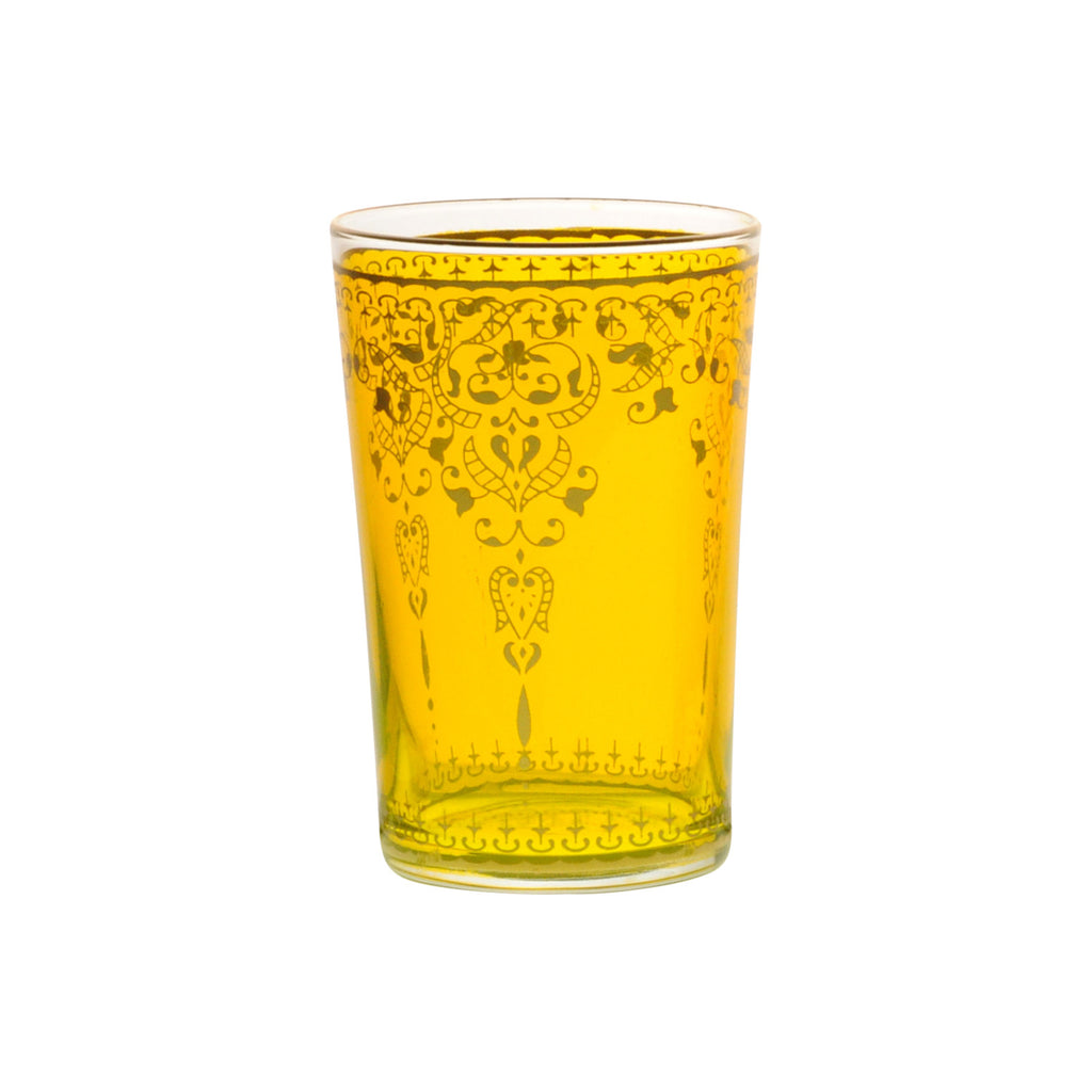 Tea glass Morjana, Yellow