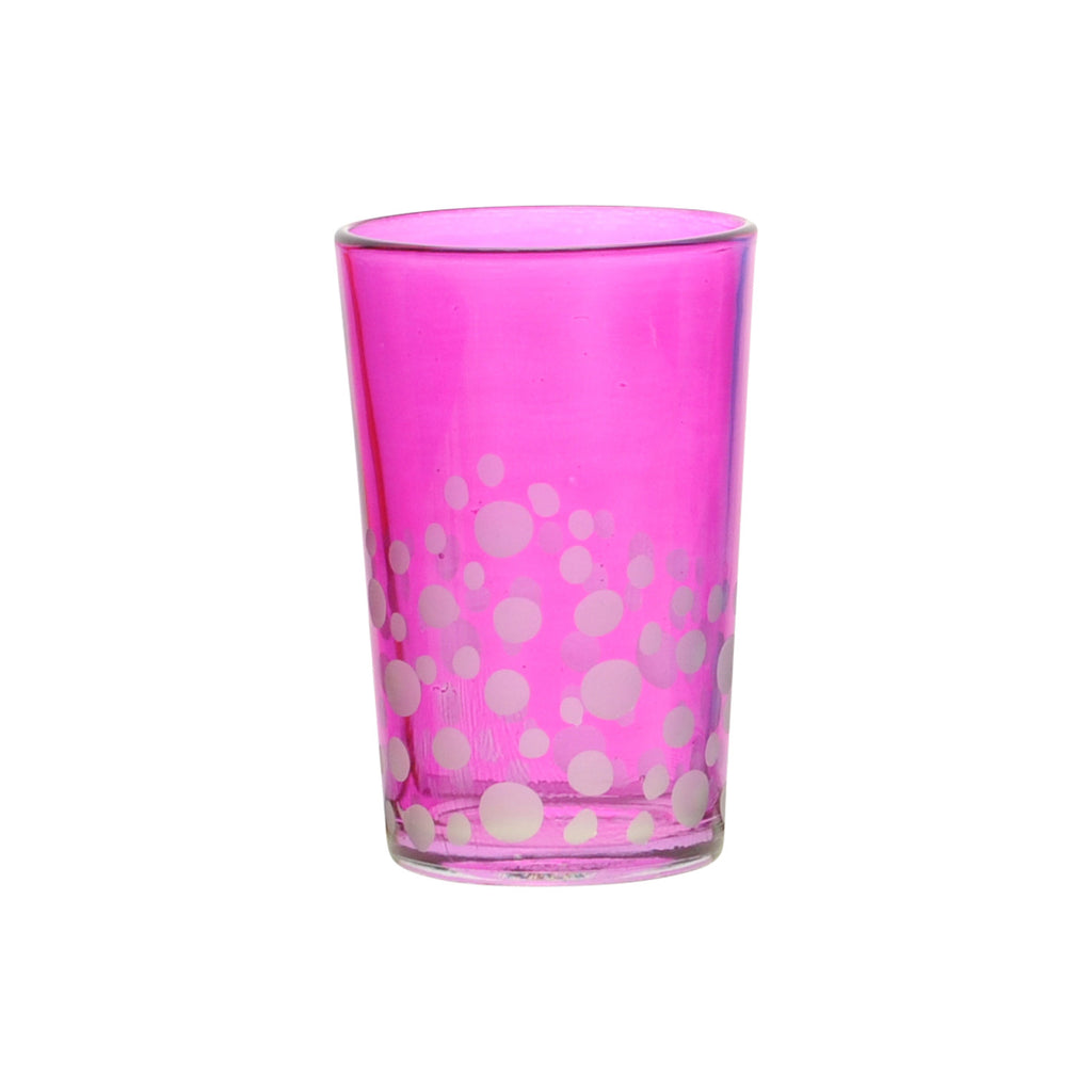 Tea Glass Dotty, Pink