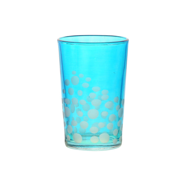 Tea Glass Dotty, Aqua