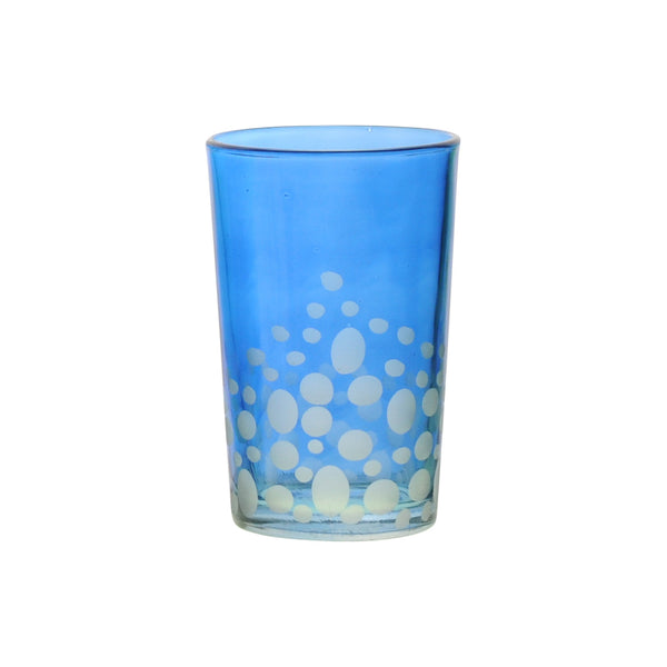 Tea Glass Dotty, Royal Blue