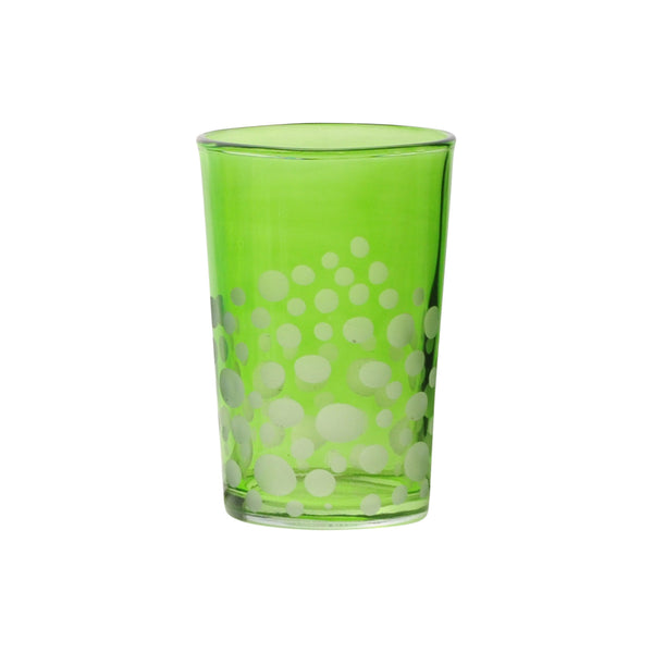 Tea Glass Dotty, Light Green