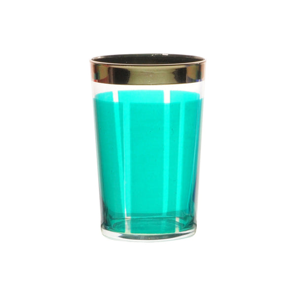 Tea glass Platine, Aqua