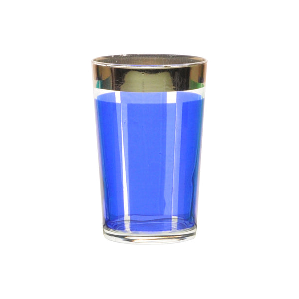 Tea glass Platine, Royal Blue