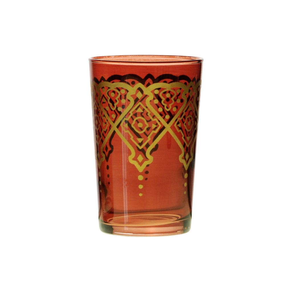 Tea glass Punto, Cognac