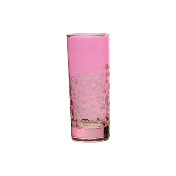 Water Glass Dotty, Pink