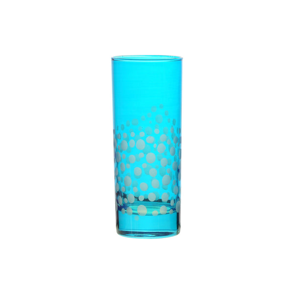 Water Glass Dotty, Aqua