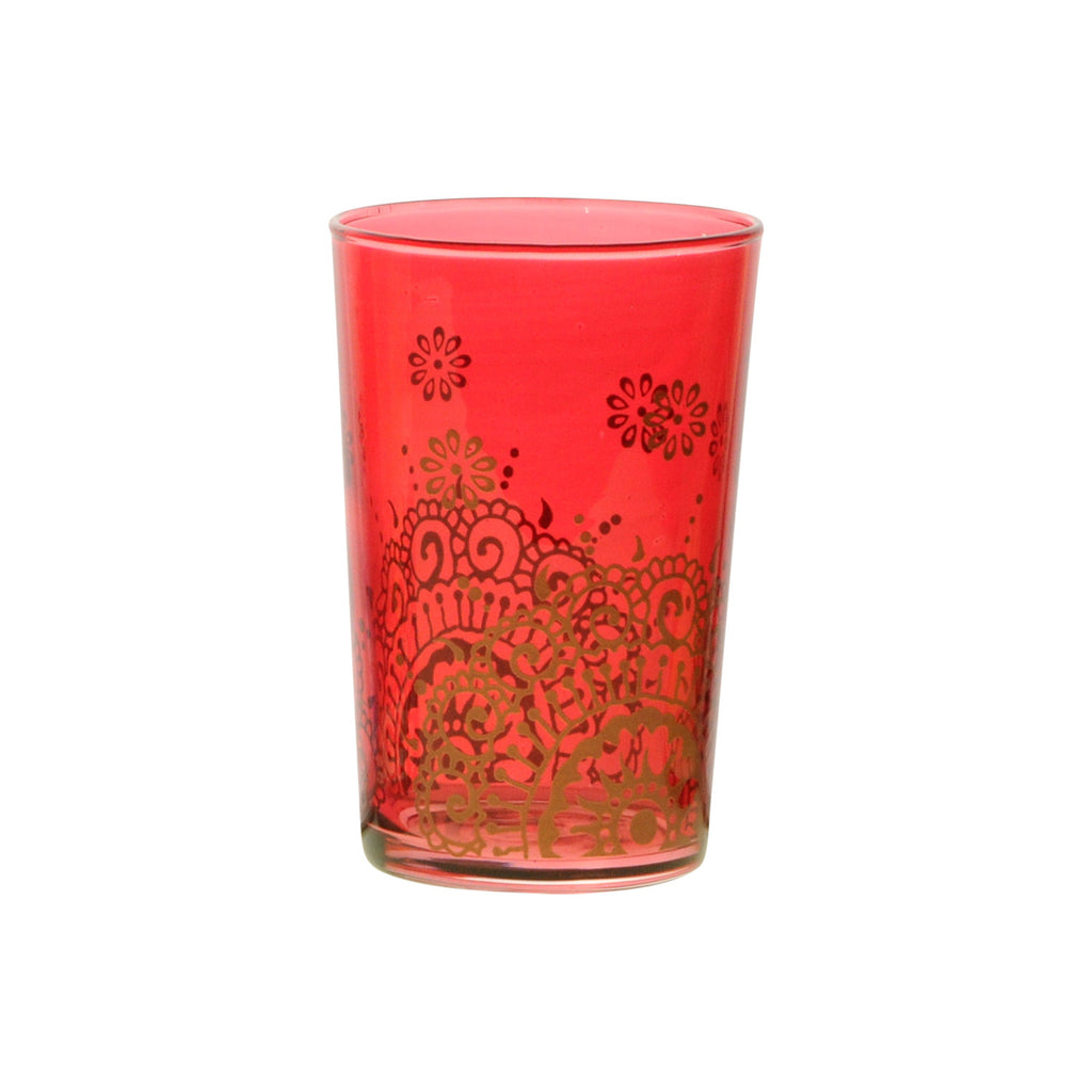 Tea Glass Oujam, Red. D6xH9,5 cm