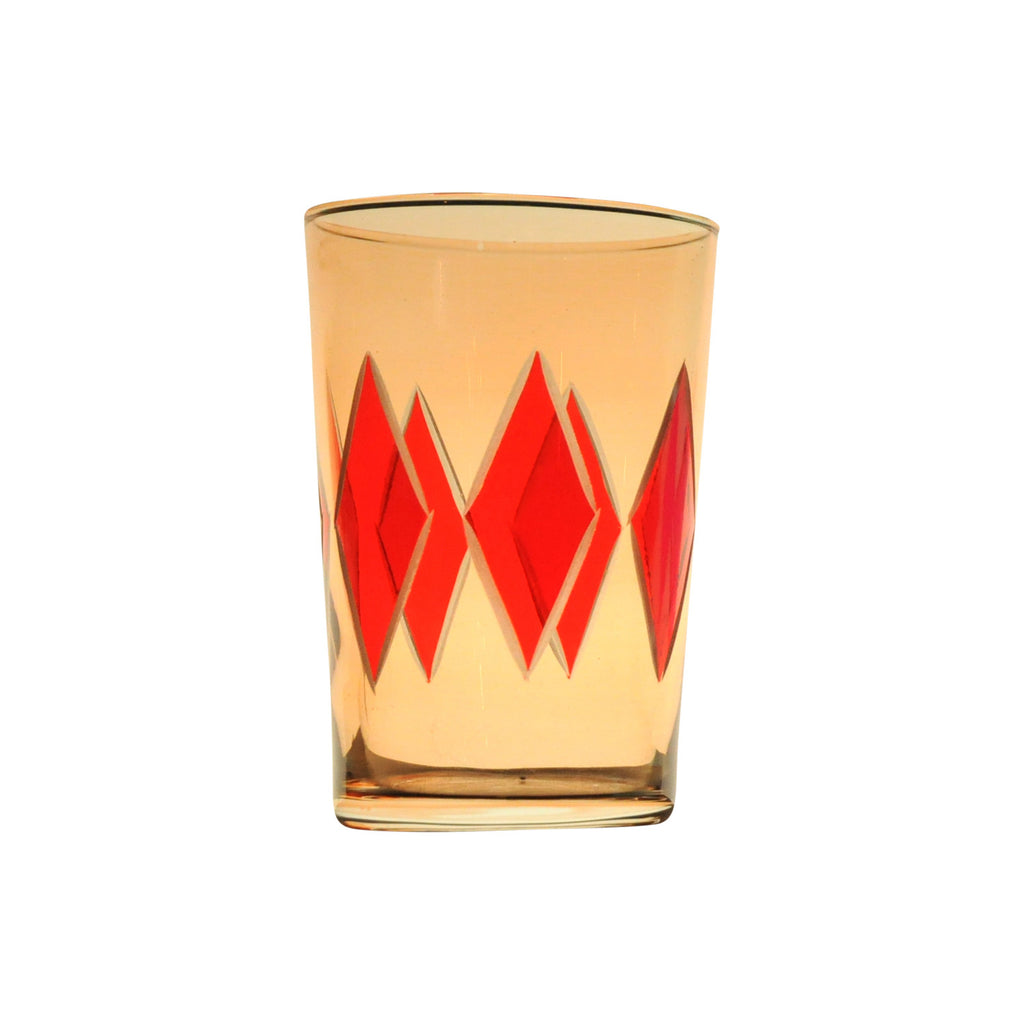 Tea Glass Diamond, Orange