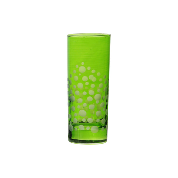 Water Glass Dotty, Light Green