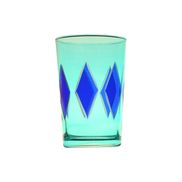Tea Glass Diamond, Blue