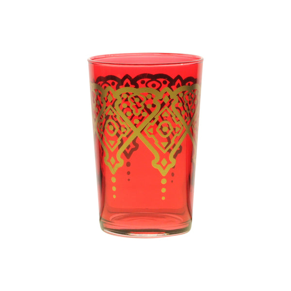Tea glass Punto, Red