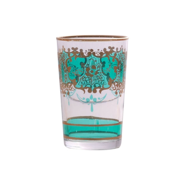 Tea glass Challa, Aqua