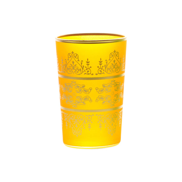 Tea Glass Tunis, Yellow