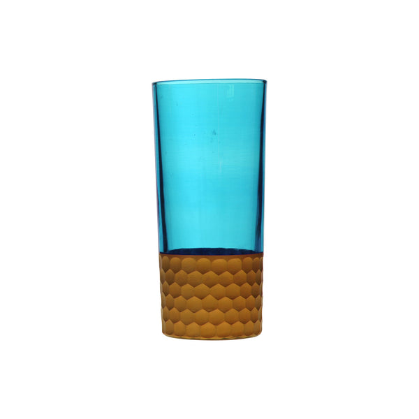 Water Glass Tila Copper, Aqua. D7xH15 cm