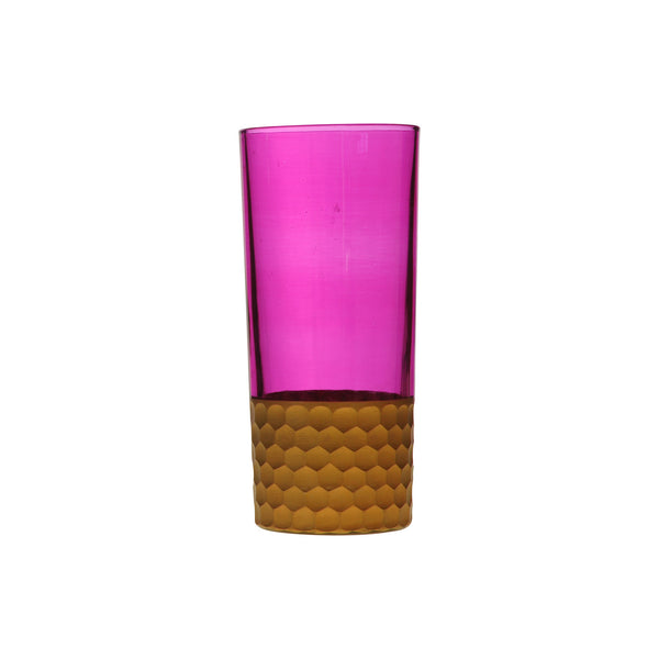 Water Glass Tila Copper, Pink. D7xH15 cm