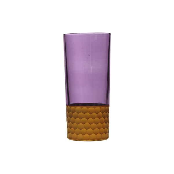 Water Glass Tila Copper, Violet. D7xH15 cm