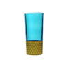 Water Glass Tila Gold, Aqua. D7xH15 cm