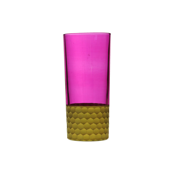 Water Glass Tila Gold, Pink. D7xH15 cm