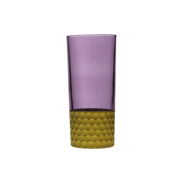 Water Glass Tila Gold, Violet. D7xH15 cm