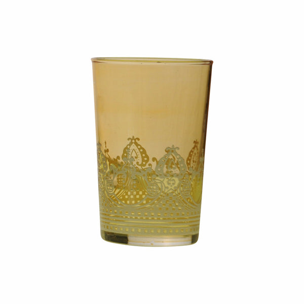 Tea glass Touareg relief, Amber