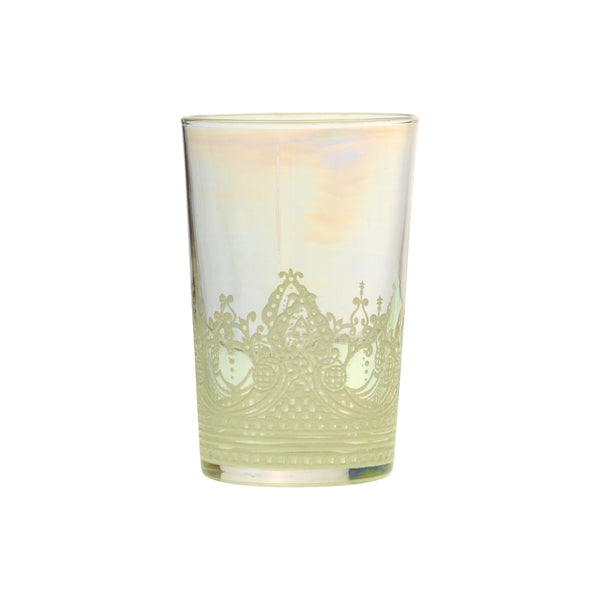 Tea glass Touareg relief, Iris
