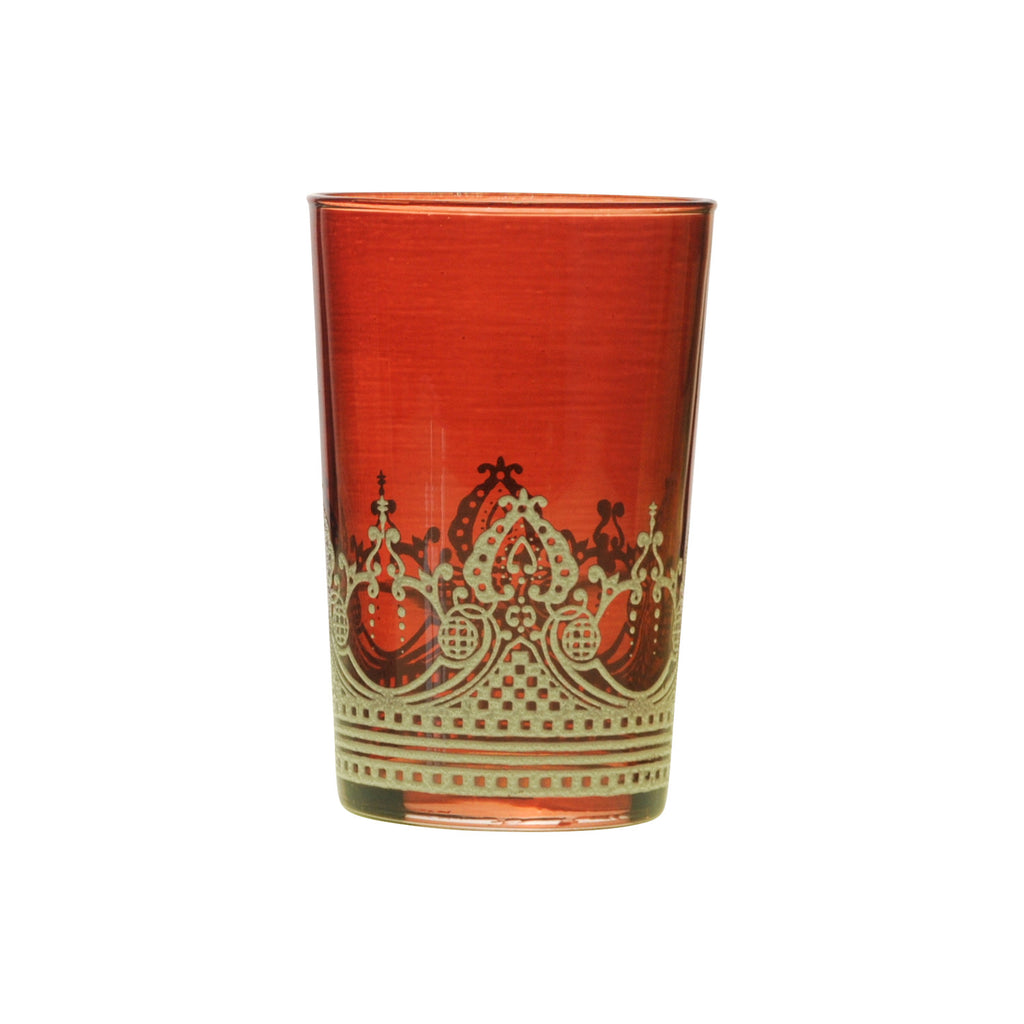 Tea glass Touareg relief, Cognac