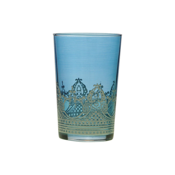 Tea glass Touareg relief, Blue