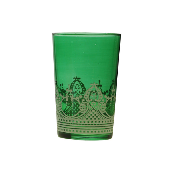 Tea glass Touareg relief, Green